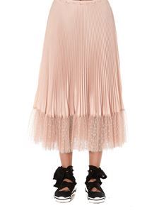 Red Valentino - Flounced tulle pleated skirt in pink