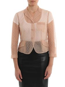 Red Valentino - Point d'esprit tulle cropped jacket in pink