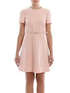 Red Valentino - Sleeveless dress with belt detail in pink