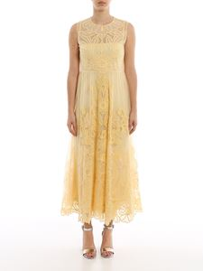 Red Valentino - Point d'esprit tulle dress in yellow