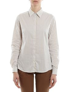 Fay - Striped shirt in white and beige