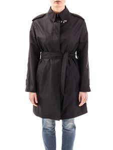 Fay - Technical fabric trench in black