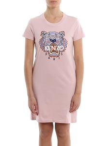 Kenzo - Tiger logo embroidery T-shirt dress in pink