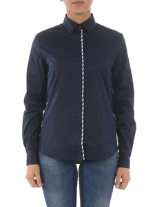 Fay - Contrasting edge shirt in blue