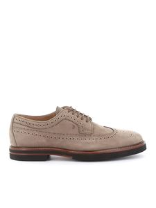 Tod's - Nubuck brogue shoes in grey