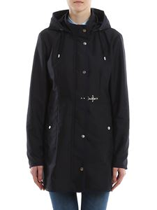 Fay - Short coat with hood in blue