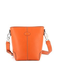 Tod's - Leather bucket bag in orange