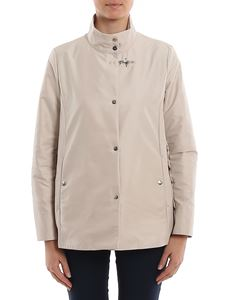 Fay - Short coat with buttons in beige