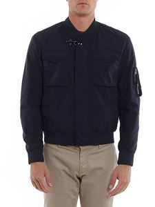 Fay - Bomber jacket with patch pockets in blue