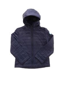 Save the duck - Recycled quilted fabric down jacket in blue