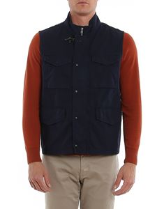 Fay - Vest with front pockets in blue