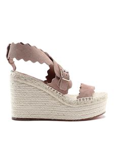 Chloé - Espadrillas Lauren color Maple Pink