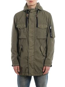 Fay - Parka with patch pockets in green