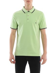 Fay - Contrasting edges polo in green