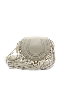 Chloé - Mini Marcie bag in white with fringes