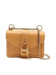 Chloé - Aby embossed mini bag in Honey Gold color