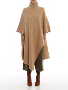 Chloé - Long poncho in Light Camel color
