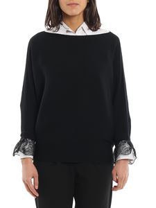 Chloé - Lace detailed wool silk sweater