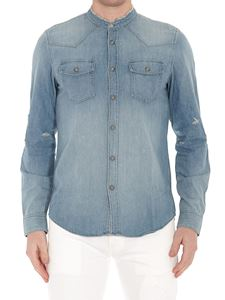 Balmain - Distressed effect denim shirt