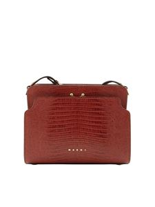 Marni - Borsa a spalla Trunk Reverse color Brick