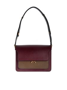 Marni - Borsa Trunk Bag bordeaux
