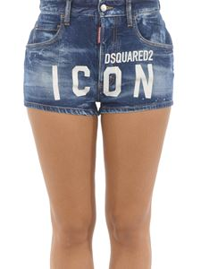 Dsquared2 - Icon print denim shorts