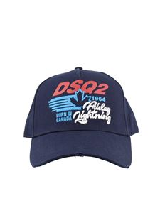 Dsquared2 - Used effect embroidered baseball cap