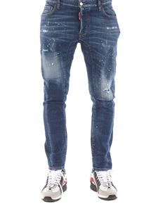 Dsquared2 - Jeans Tidy Biker con aree sbiadite