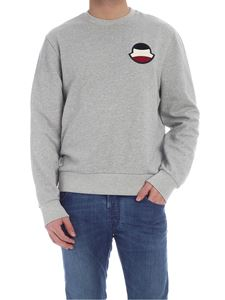 Moncler - Logo patch sweatshirt in melange grey