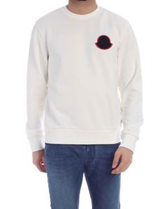 Moncler - Logo patch sweatshirt in ivory color