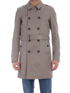 Herno - Cotton twill trench coat in grey
