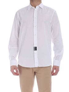 Versace Jeans Couture - Contrasting logo print shirt in white