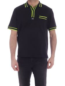 MSGM - Contrasting edges polo shirt in black
