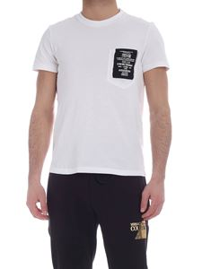 Versace Jeans Couture - Rubberized logo print T-shirt in white