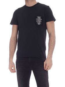 Versace Jeans Couture - Rubberized logo print T-shirt in black