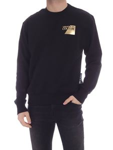 Versace Jeans Couture - Laminated logo sweatshirt in black