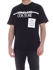 Versace Jeans Couture - Logo print t-shirt in black