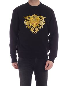 Versace Jeans Couture - Baroque Jewels print sweatshirt in black