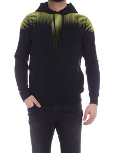 Marcelo Burlon County Of Milan - Falls Wings hoodie in black and yellow
