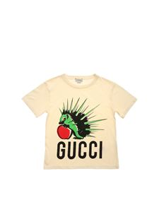 Gucci - Hedgehog print T-shirt in cream color