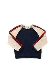 Gucci - GG logo sweatshirt in blue and beige