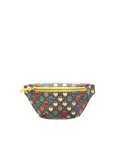 Gucci - GG and hearts pattern bum bag in beige