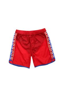 Gucci - GG swim trunks in red