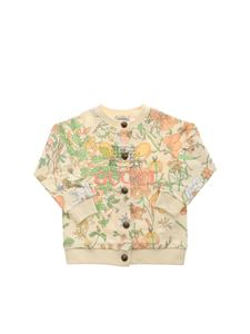 Gucci - Printed cardigan with Gucci embroidery