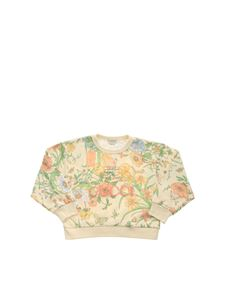 Gucci - Printed sweatshirt with Gucci embroidery