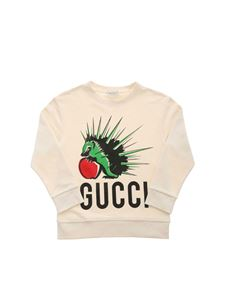 Gucci - Hedgehog print sweatshirt in ecru color