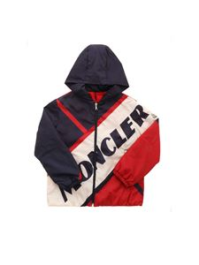Moncler Jr - Bert down jacket in ivory blue and red