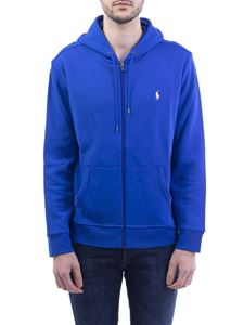 POLO Ralph Lauren - Blue stretch cotton hoodie
