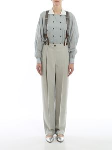 Giorgio Armani - Shantung trousers with suspenders