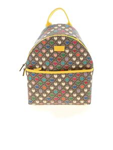Gucci - GG and hearts pattern backpack in beige
